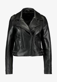 Vero Moda - VMCOOL SHORT COATED JACKET - Faux leather jacket - black - 5