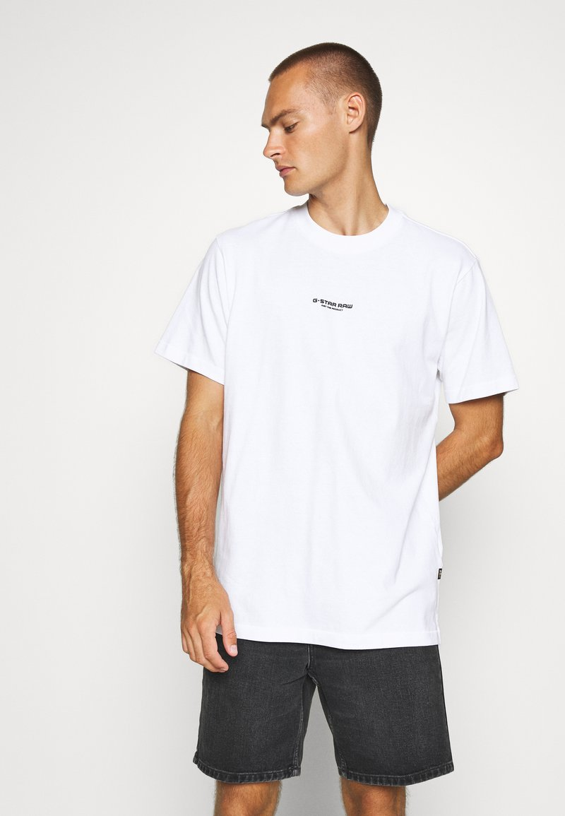 G-Star - CENTER CHEST LOGO  - T-shirt basic - white