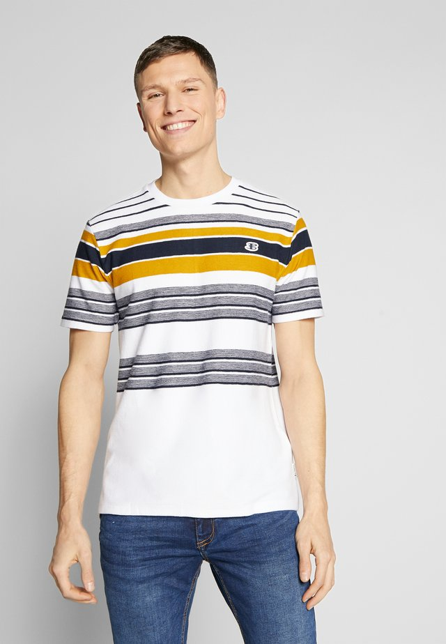KNIT STRIPE TEE - T-shirt con stampa - snow white