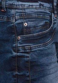 Cecil - Denim shorts - m blue denim - 4