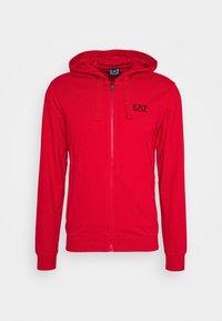 Zip-up sweatshirt - racing red