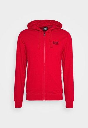 veste en sweat zippée - racing red
