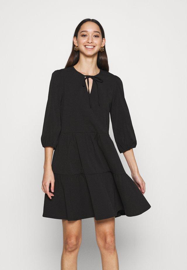 NMLIVE 3/4 SHORT DRESS - Day dress - black