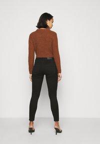 ONLY Petite - ONLROYAL BIKER - Jeans Skinny Fit - black - 2