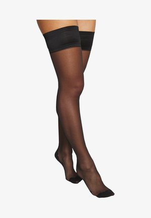 HOLD UPS BACKSEAM PLAIN - Over-the-knee socks - black