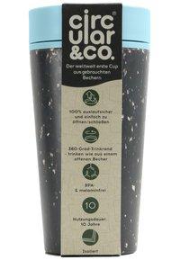 Circular&Co - CIRCULAR & CO KAFFEEBECHER TO GO MIT DECKEL - 340ml - Trinkflasche - Autres accessoires - schwarz / blau - 6