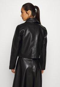 Weekday - TAXI JACKET - Faux leather jacket - black - 2