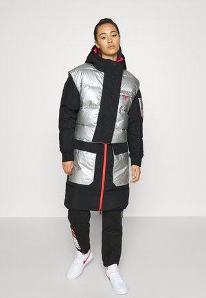 Down coat - black/silver