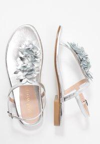 Stuart Weitzman - DEVORAH - T-bar sandals - silver - 3