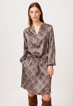 AURA - Day dress - paisley taupe