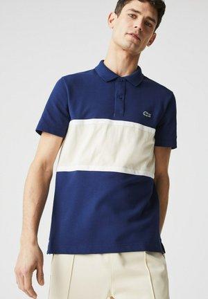 Polo shirt - bleu/beige
