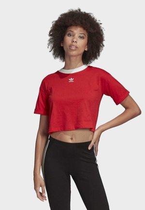 CROP TOP - Print T-shirt - red