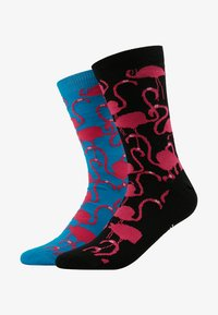 Lousy Livin Underwear - FLAMINGOS 2 PACK - Socks - turquoise/black - 1