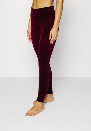 Leggings - Stockings - burgundy