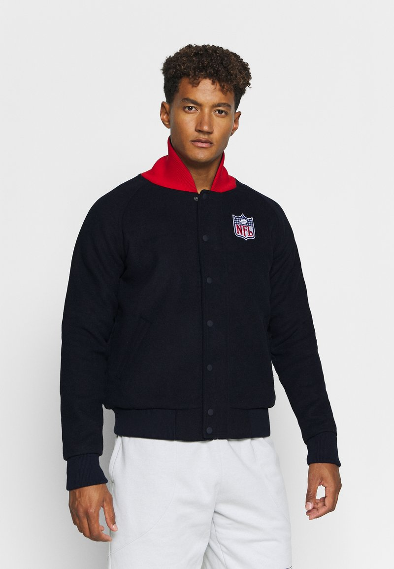 Fanatics - NFL TRUE CLASSICS SHIELD LETTERMAN JACKET - Sportovní bunda - navy