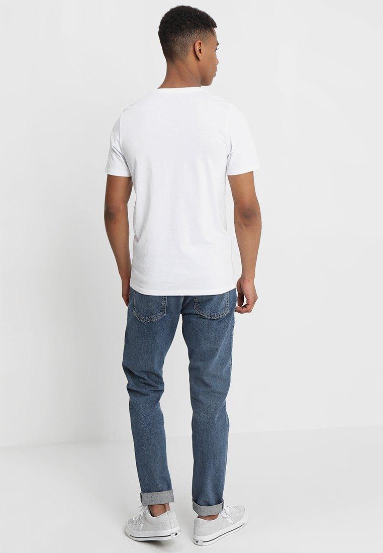Jack & Jones JJECORP LOGO CREW NECK  - Print T-shirt - white RftcH