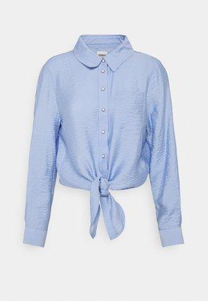 ONLDANI KNOT SHIRT - Button-down blouse - blue heron