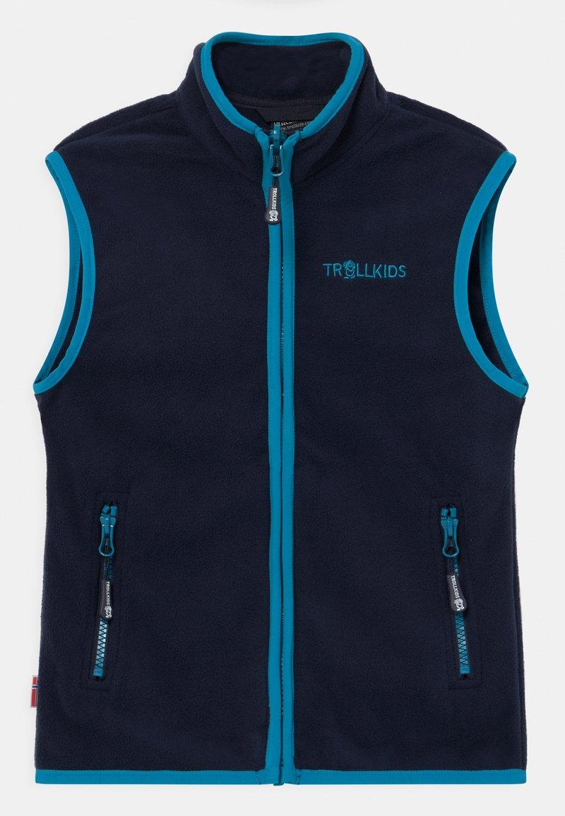 TrollKids - KIDS ARENDAL UNISEX - Waistcoat - navy/light blue