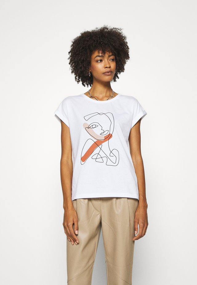 CARRIAC - T-shirt z nadrukiem - white