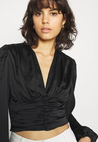 Gina Tricot - VICTORIA BLOUSE - Long sleeved top - black - 3
