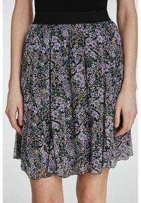 SET - A-line skirt - black violett - 3