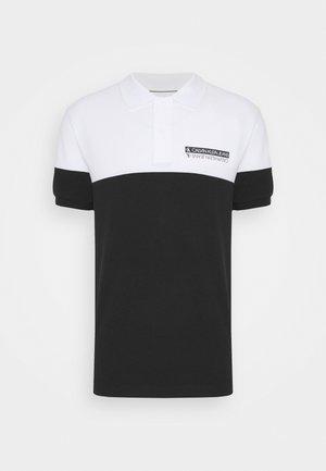 MICRO MIRRORED LOGO - Koszulka polo - black/white
