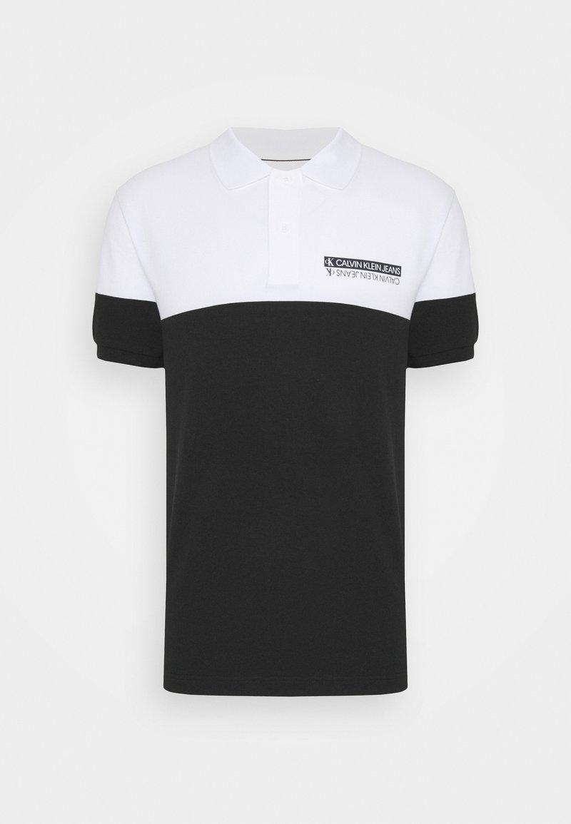 Calvin Klein Jeans - MICRO MIRRORED LOGO - Polo - black/white