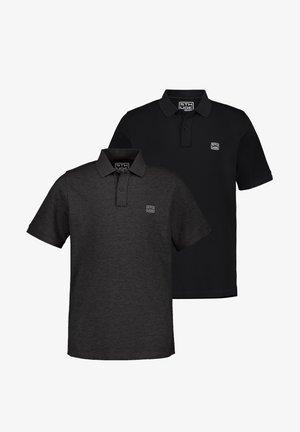 2 PACK - Poloshirt - anthrazit melange