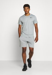 Nike Performance - DRY - Basic T-shirt - smoke grey/light smoke grey/heather/black - 1