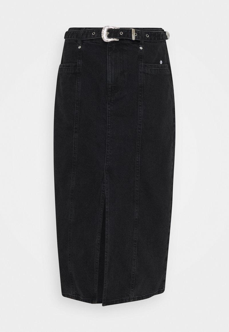 ONLY Tall - ONLVERONA LIFE LONG SKIRT - Pencil skirt - dark grey denim