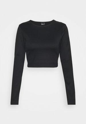 YARA CROPPED - Pyjama top - black