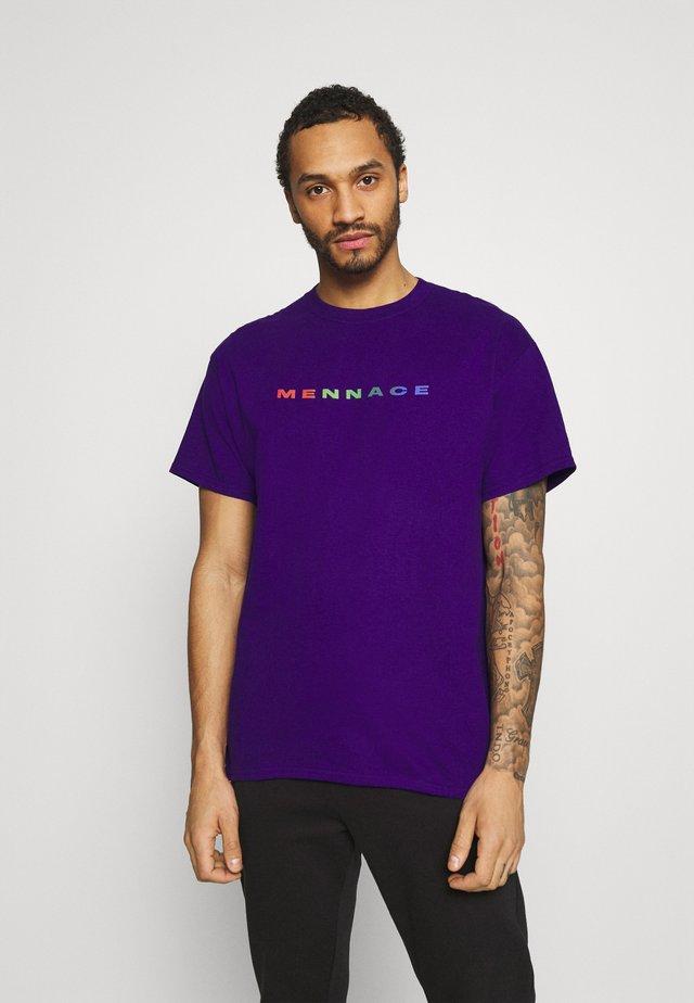 PRIDE RAINBOW BLOCK LOGO UNISEX  - Print T-shirt - purple