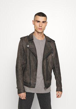 DELANE - Kožená bunda - vintage brown
