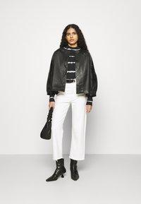 Selected Femme - SLFVERA  O NECK JACKET - Leather jacket - black - 1