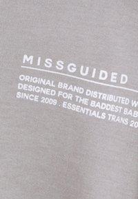 Missguided - CROPPED RAW HEM - Sweatshirt - light grey - 5