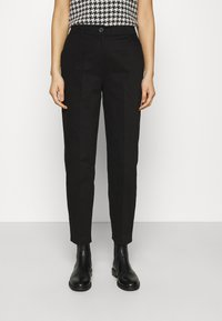 Selected Femme - SLFNORA CROPPED PANT  - Trousers - black - 0