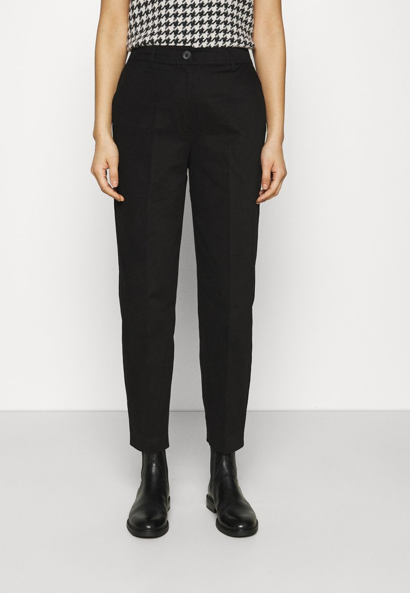 Selected Femme - SLFNORA CROPPED PANT  - Trousers - black