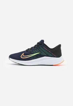 QUEST 3 - Zapatillas de running neutras - obsidian/atomic orange/black/lime glow