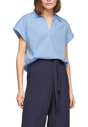 Blouse - light blue stripes