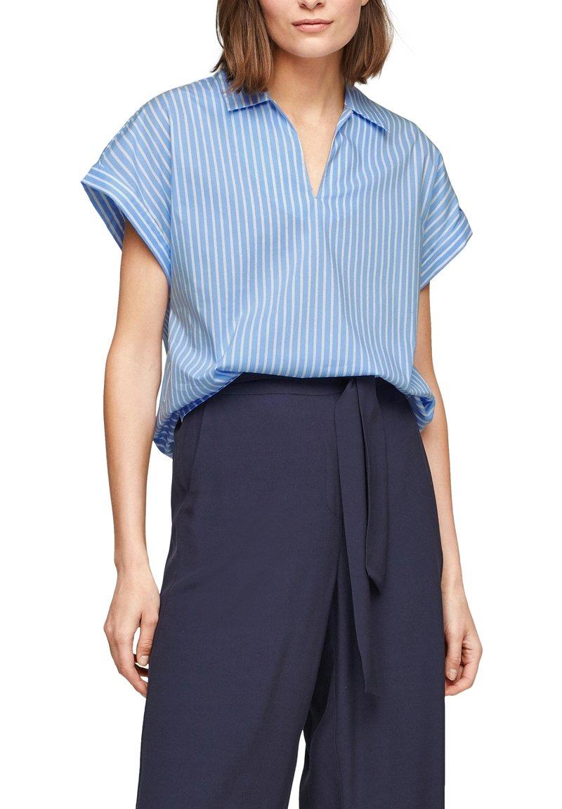 s.Oliver BLACK LABEL - Blouse - light blue stripes