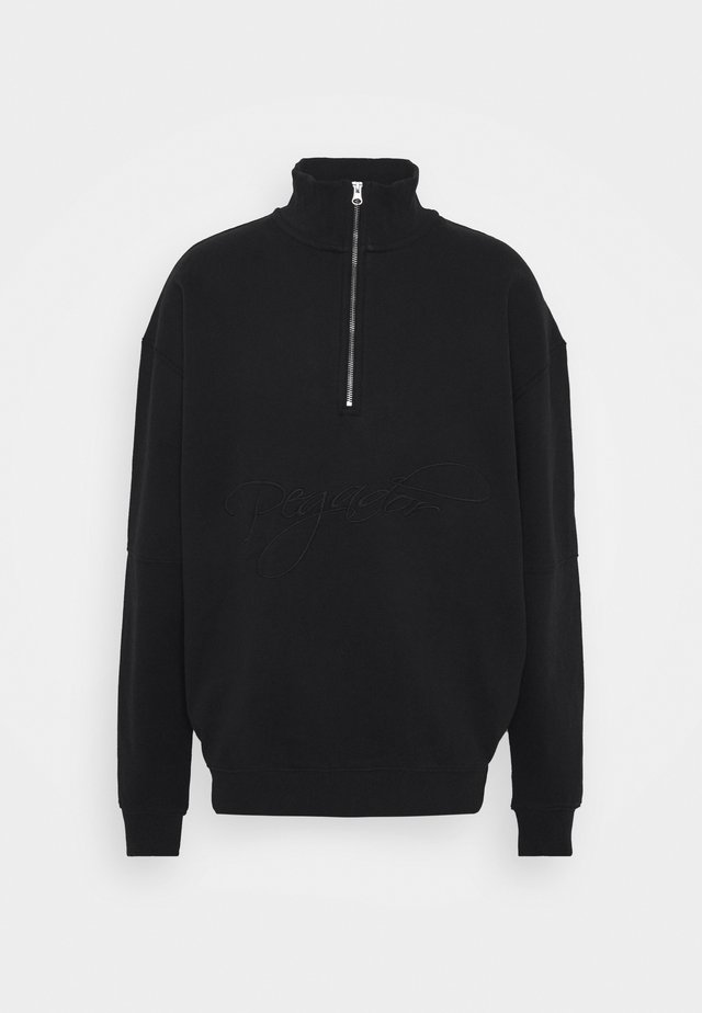 ARIZONA HALFZIP  UNISEX - Felpa - washed black