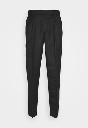 SMART CHECK TAPER - Pantaloni cargo - black