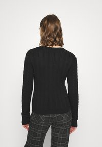 Hollister Co. - ICON CABLE - Jumper - black - 2