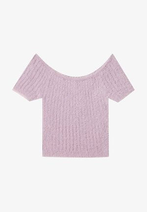 Jednoduché triko - mauve