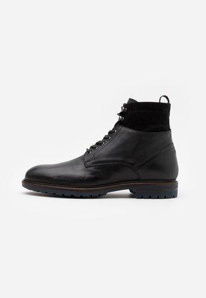 Šněrovací kotníkové boty - ohio nero/star nero