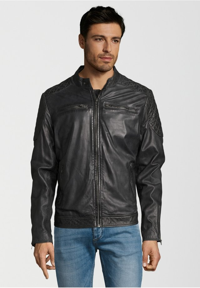 BECK - Leather jacket - dark grey