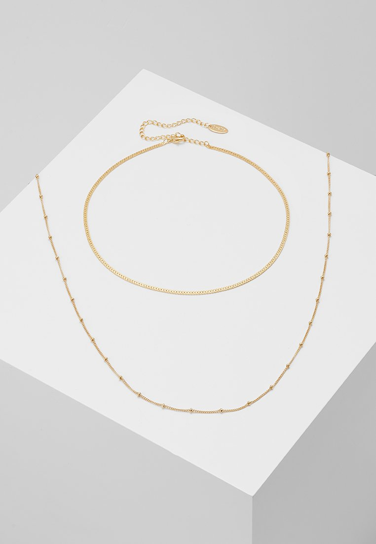 Orelia - SATELLITE AND FLAT CURB CHAIN SET - Collier - gold-coloured