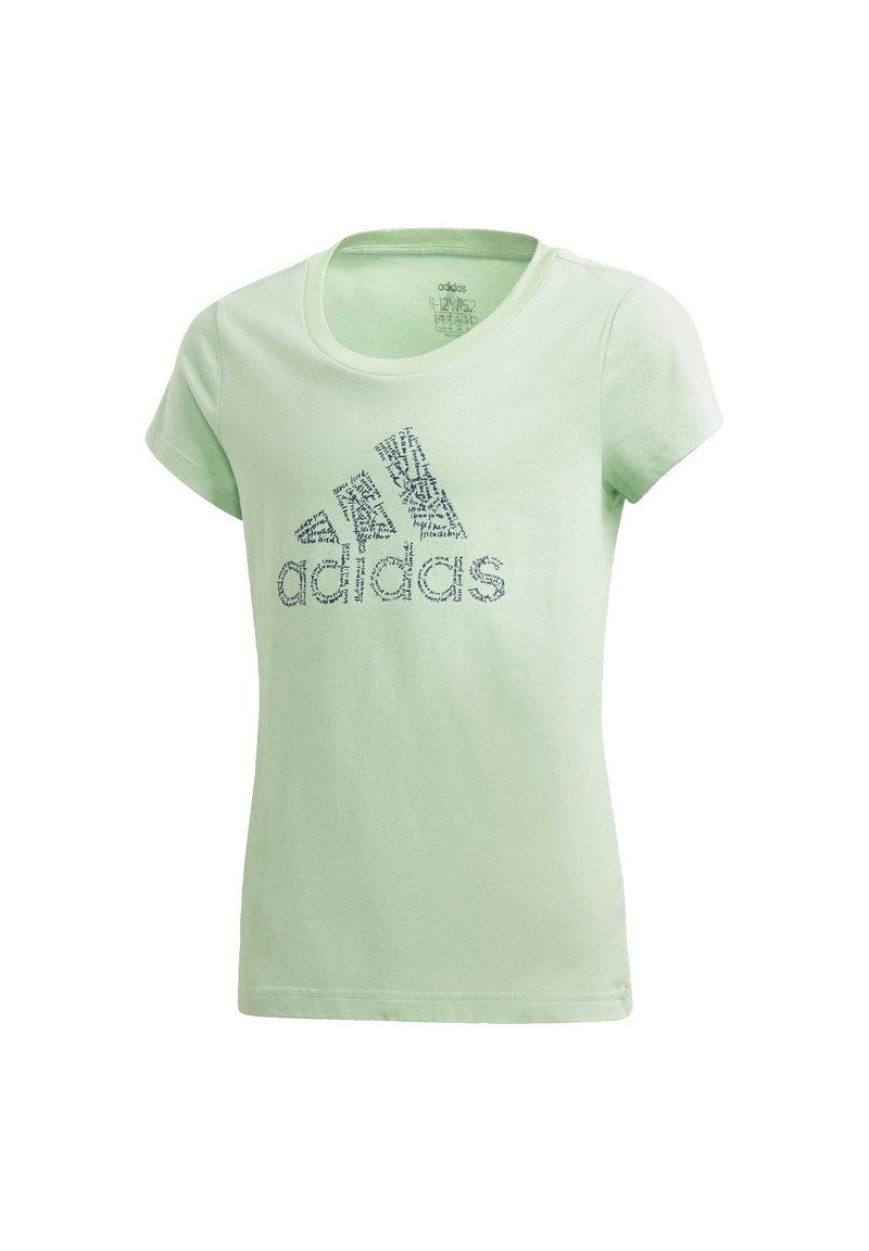 adidas Performance - BADGE OF SPORT T-SHIRT - T-shirt imprimé - green