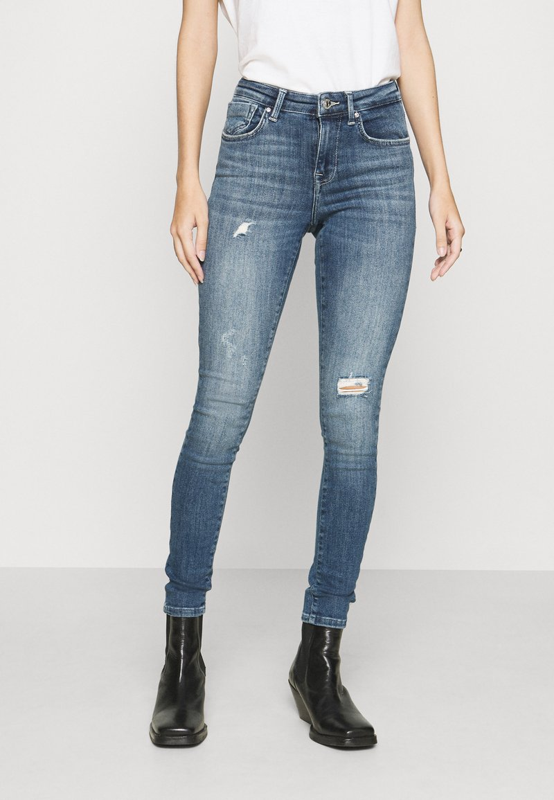 ONLY - ONLPOWER PUSH UP DESTROY - Jeans Skinny Fit - medium blue denim