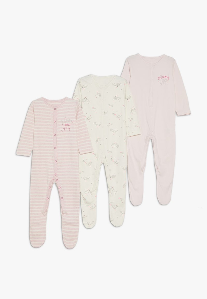 mothercare - BABY SLEEPSUITS 3 PACK  - Pyžamo - pink